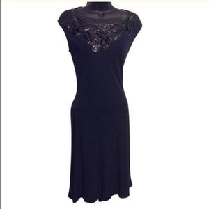 Vintage Navy Blue Sequin Dress